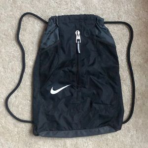 Nike Drawstring Backpack with Front Zipper